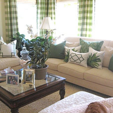 Traditional Living Room by Alexandra Rae Design