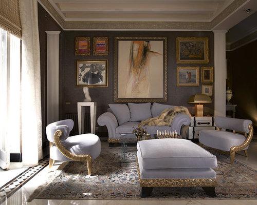 Lilac walls living room design ideas renovations photos for Lilac living room walls