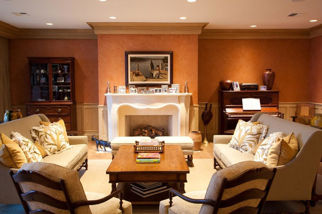 Traditional Living Room by AM Interior Design