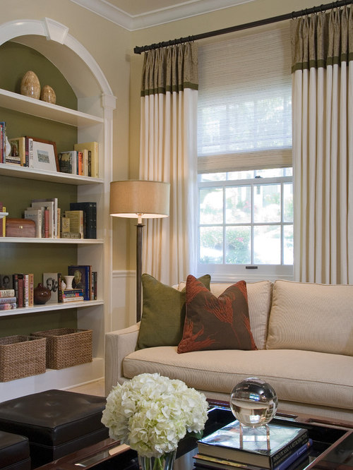 Two tone drapes houzz for B q living room curtains