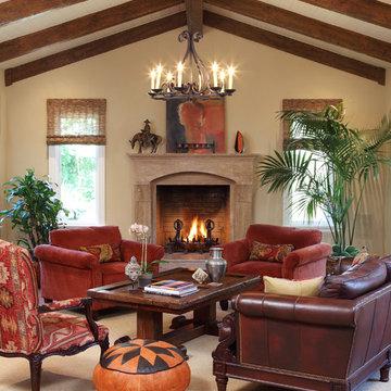 Traditional living room, Atherton