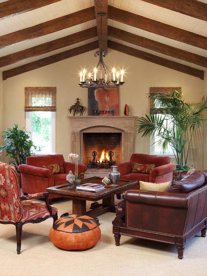 Traditional Living Room by Christine Sheldon Design
