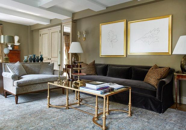 Traditional Living Room by Bennett Leifer Interiors