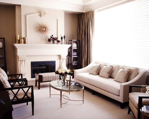 High Quality Elegant Living Room Photo In Vancouver With A Standard Fireplace