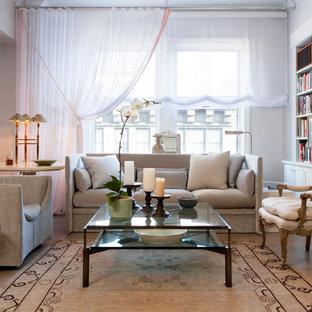 Elegant living room library photo in New York