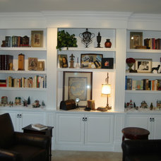 Traditional Living Room by Custom Woodwork LLC