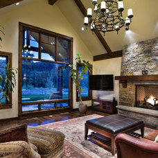 Traditional Living Room by Cathers Home