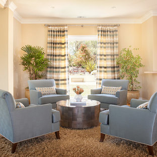 Living room - traditional living room idea in San Francisco with beige walls