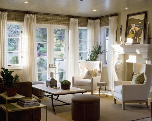 Curtains With Blinds Living Room Ideas & Photos | Houzz