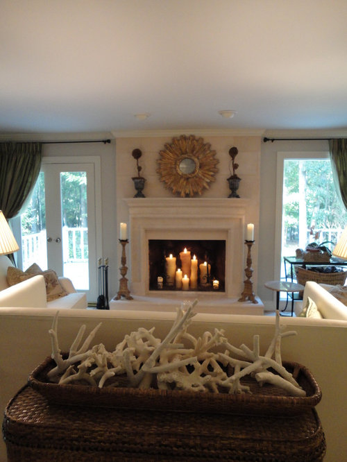 Candles In Fireplace Home Design Ideas Pictures Remodel