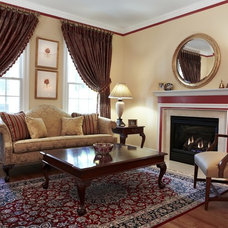 Traditional Living Room by Designing Solutions