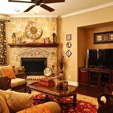 Traditional Living Room by Devdan Interior Designs
