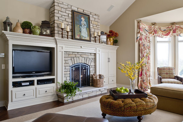 Traditional Living Room by Edward Postiff Interiors