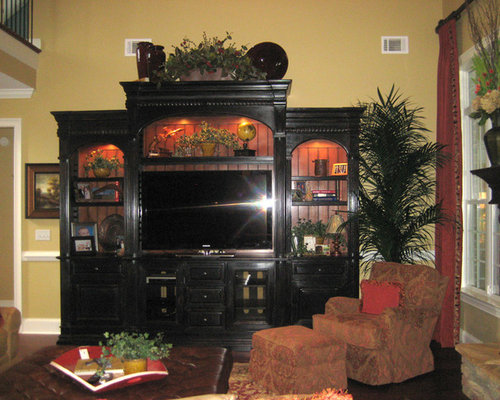 Large entertainment center ideas pictures remodel and decor for Decorating entertainment center ideas