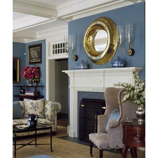 Slate Blue Living Room Houzz