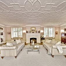Traditional Living Room by Kim E Courtney Interiors & Design Inc