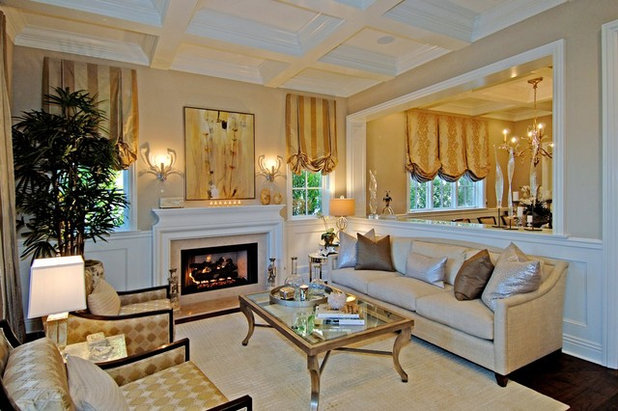 Traditional Living Room by Jill Wolff Interior Design