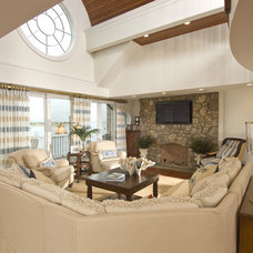Traditional Living Room by Kellie Burke Interiors