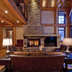 traditional living room by Kelly & Stone Architects