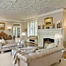 Traditional Living Room by Kim E Courtney Interiors & Design Inc