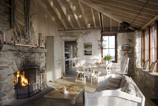 Farmhouse Living Room Traditional Living Room