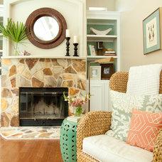 Traditional Living Room by Lauren Leonard Interiors