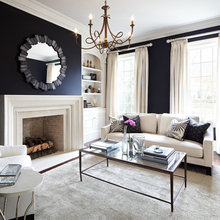 Navy Living rooms