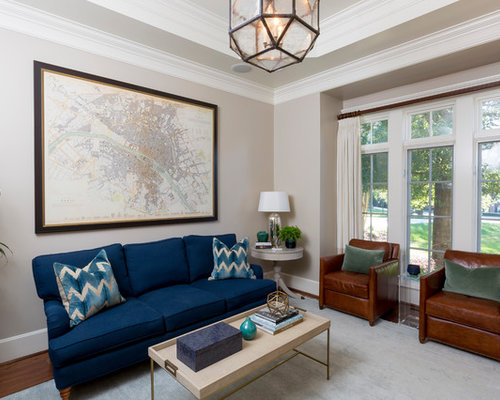 Delightful Example Of A Classic Living Room Design In Charlotte