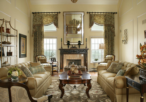 Traditional Living Room by Marina Klima Goldberg - Klima Design Group