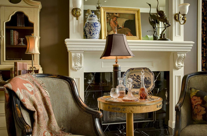 Traditional Living Room by McCroskey Interiors
