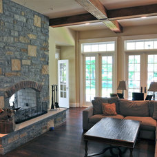 Eclectic Living Room by Michaelson Homes LLC