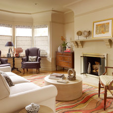 Traditional Living Room by Shannon Kaye