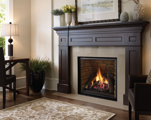gas fireplace mantel houzz