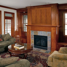 Traditional Living Room by Ron Brenner Architects