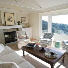 Traditional Living Room by Sarah Burke Design