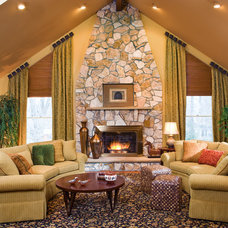 Traditional Living Room by Decorating Den Interiors - Susan Keefe, C.I.D.