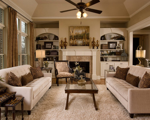 Sofa facing each other living room design ideas remodels for Living room and family room next to each other
