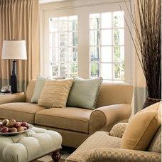 Traditional Living Room by T E Design- Tiffany Eden Design