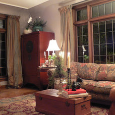 Traditional Living Room by Timothy De Clue Design L.L.C