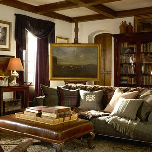 Living room - traditional living room idea in Other