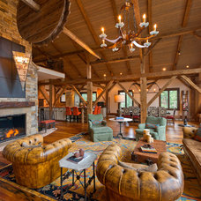 Traditional Living Room by HeritageBarns.com