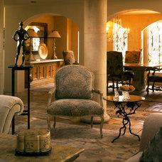 Mediterranean Living Room by Joani Stewart-Georgi - Montana Ave. Interiors
