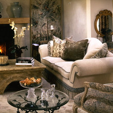 Mediterranean Living Room by Joani Stewart-Georgi - Montana Ave. Interiors