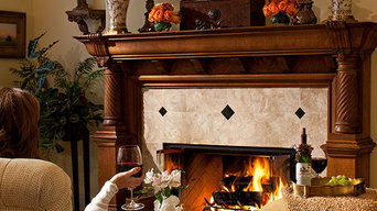 Traditional Living Room with Antique Oak Mantel