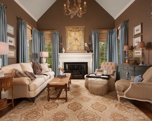 Inspiration For A Timeless Formal Medium Tone Wood Floor And Brown Floor Living  Room Remodel In Part 31