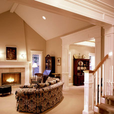 Traditional Living Room by DK Martin Construction