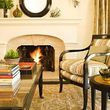 Mediterranean Living Room by Michael Fullen Design Group