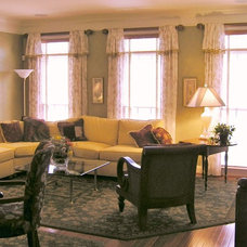 Traditional Living Room by Golden Interiors