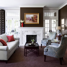 Traditional Living Room by Morgante Wilson Architects