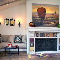 Mediterranean Living Room by Hamilton-Gray Design, Inc.